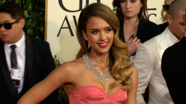 Jessica Alba got lippy with it