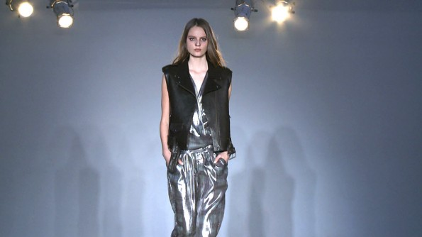 Full-body splash of silver at Edun
