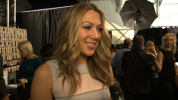 We caught up with Colbie Caillat at Badgley Mischka