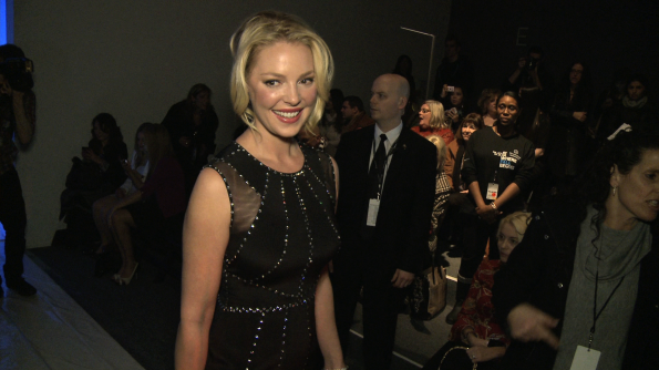 Katherine Heigl backstage at Jenny Pakham