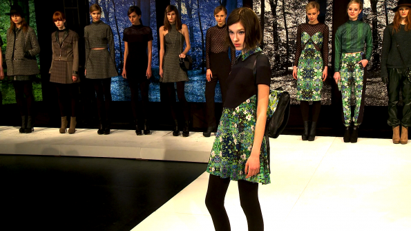 Basic black meets a shower of flowers at Charlotte Ronson